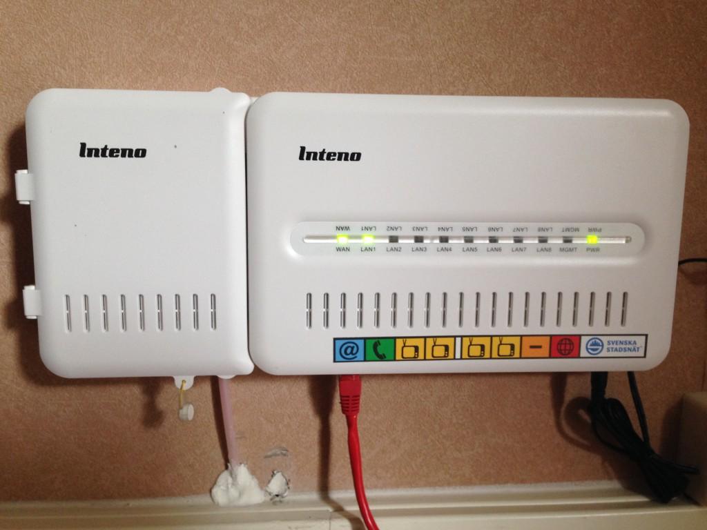 inkoppling av kablar till fiberkonverter